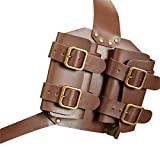 Tavot Sword Cover,Sword Belt Sword Holster Outdoor Double Scabbard Strap Adjustable PU Leather Double Back Scabbard Medieval Renaissance Broadsword Sword Cover