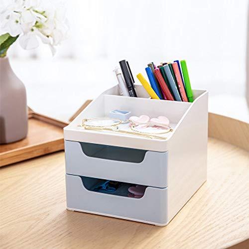 Gran multifunción Desktop Pen Holder, Pen Gran cajón, Caja (Color : Light Blue)