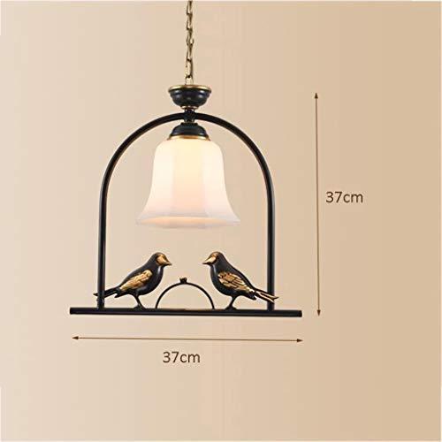 YISUNF Las luces del techo Lámparas colgantes Lámparas Luces pendientes del pájaro de la personalidad creativa de cobre retro E27 Lámparas Balcón Pasillo Pasillos Porche Lámparas, B (Color : B)