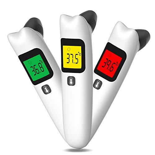 Termómetro Para Bebés,Termómetro Digital Frente y Oído,Termómetro Médico Infrarrojo para el bebé adulto del niño con la memoria y el indicador de fiebre, medición precisa FDA/CE/RoHS