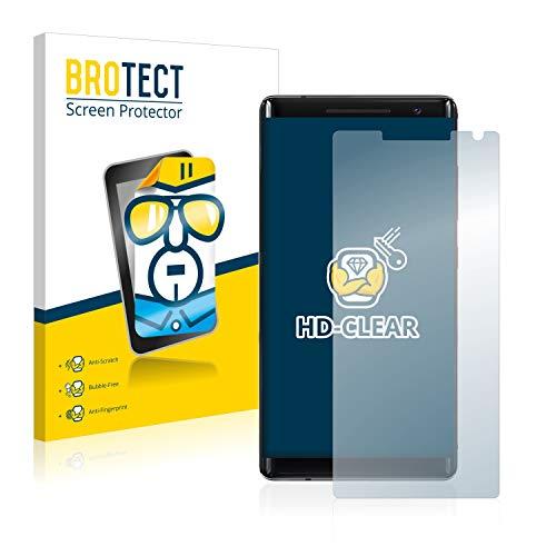BROTECT Schutzfolie kompatibel mit Nokia 8 Sirocco (2 Stück) klare Bildschirmschutz-Folie