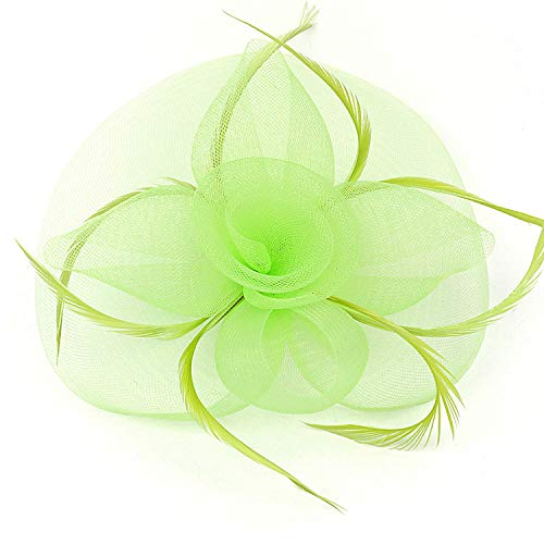 Veil Hoed Bruiloft Headdress Bow-Tie-Haired Banket Jurk Mesh Jurk Hoed Groen