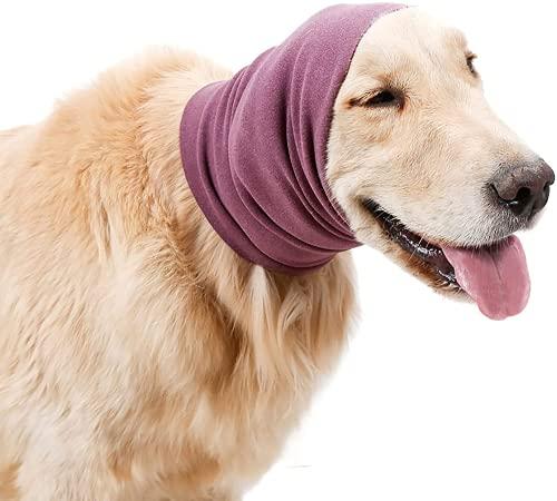 Orejeras para Perros, protección contra el Ruido, calmante para Perros, Capucha para Calentar el Cuello y Las Orejas para Mascotas, Protector de oídos para Mascotas para el Aseo y el baño (L)