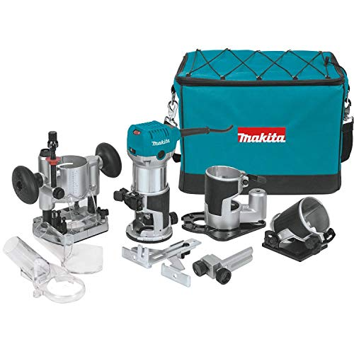 Makita RT0701CX3 1-1/4 HP Compact Router Kit, Teal