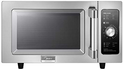 Midea Equipment 1025F0A Stainless Steel Countertop Commercial Microwave Oven, 1000W