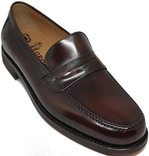 3524.Zapato mocasín Cosido a Mano; en Inca Mallorca,Piel Becerro de máxima Calidad, Color marrón