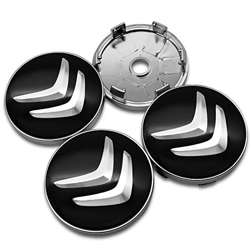 Tapas Centrales Para Llantas 4 unids Coche estilo Emblema Accesorios de emblema de 60mm Centro de ruedas del automóvil Caps de cápsula de la cubierta Pegatina para Citroen C4 Grand Picasso Sedan C3 C5
