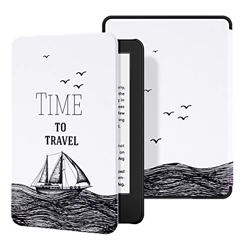 Ayotu Custodia in Pelle per Kindle 2019 - Case Cover con Sonno/Sveglia la Funzione Compatibile con Amazon Nuovo Kindle (10ª Generazione - Modello 2019),The Time to Travel