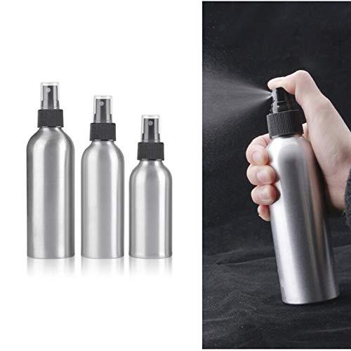 Botella contenedor 30 ml / 50 ml / 100 ml / 120ml / 150 ml / 250 ml botellas de aluminio de aluminio portátil Mini perfume Botellas vacío Pulverizador cosmético recargable Atomizador Artículos de viaj