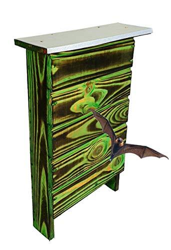 BLIZNIAKI FledermausKasten 9x27x42cm Fledermaushaus aus Holz Nistkaste Fledermauskasten zum Aufhängen Unterschlupf für Fledermäuse Schläger Geeignet für Fledermäus BAT Box BDN1 Opal ZZ