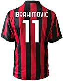 3rsport Camiseta Milan Ibrahimovic 11 réplica autorizada para niño (tallas 2 4 6 8 10 12) adulto (S M L XL (XL Adulto)