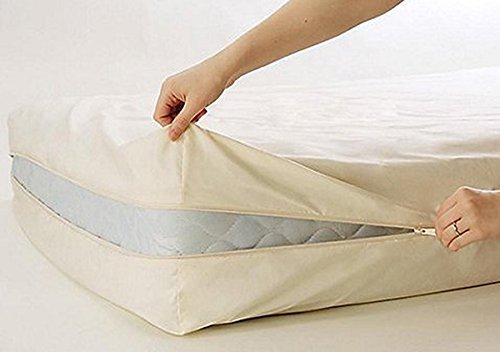 Gilbin 100% Cotton Fleetwood Cotton Mattress Cover, Zips...