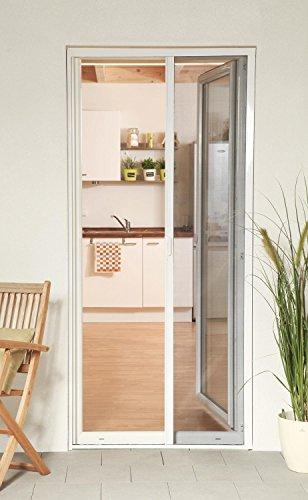 empasa Insektenschutz Fliegengitter Rollo Tür Insektenschutzrollo SMART weiß, braun oder anthrazit 160 x 220 cm