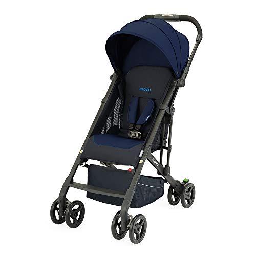 Recaro Kids, Buggy Easylife 2 (6 Monate-22 kg), Buggy 2 in 1 kompatibel mit Babyschale, Leichter Buggy, Kompakt, Einfach zu Bedienen, Hervorragende Luftzirkulation, Sonnenverdeck, Select Pacific Blue