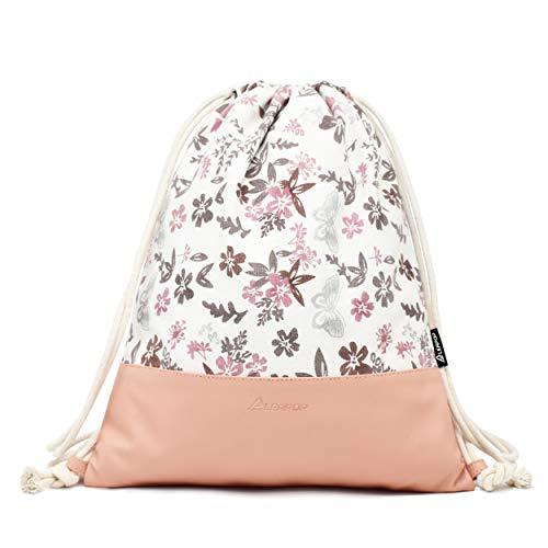 Leapop Turnbeutel Blumen Schmetterlinge, Rosa - 2