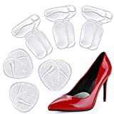 Heel Cushion Inserts and Metatarsal Pads for Women, 3 Pairs Heel Grips and 3 Pairs Ball of Foot Cushions, Silicone Shoe Pads Insoles for High Heels, Blister Prevention for Too Big Shoes …
