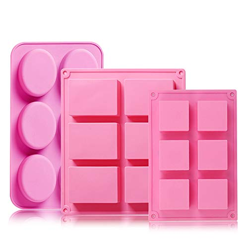 Silicone Soap Molds Rectangle Square & Oval