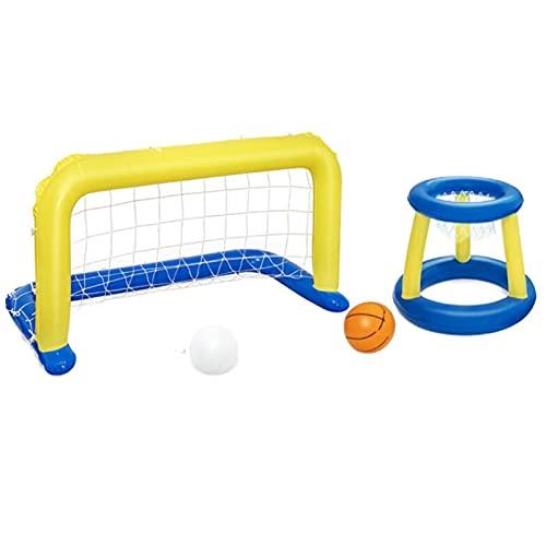 MEYENG Baloncesto De Piscina De Verano, Juego De Fútbol Inflable Incluyen Baloncesto De Aros De Baloncesto Apto para Niños Y Adultos para Deportes Acuáticos - (53.9 X 25.9in)