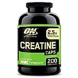 Optimum Nutrition Creatine, Complément Alimentaire de Créatine Monohydrate, Non Aromatisé, 100 Portions, 200 Capsules