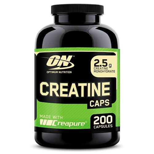 Optimum Nutrition Creatina 2500 mg in Capsule, Compresse di Creatina Monoidrata Non Aromatizzata per Crescita Massa Muscolare, 100 Porzioni, 200 Capsule