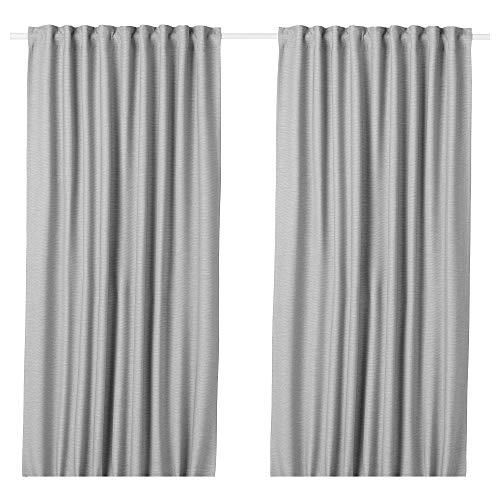 ikea home curtain panels IKEA.. 404.234.13 Vilborg Curtains, 1 Pair, Gray