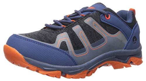 Northside Boy's Gamma Hiking Shoe, Navy/Orange, 7 M US Big Kid