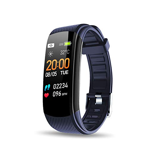 Walkercam, Fitness Tracker for Women, Heart Rate Monitor, Blue