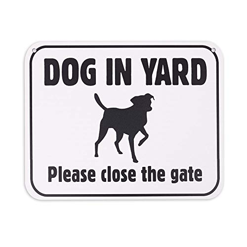 """WaaHome Dog in Yard Sign Please Close The Gate Signs,8""""X10"""" Dog Signs"""