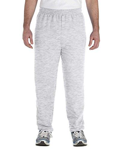 Gildan Men's Heavy Blend Elastic Waistband Drawcord Sweatpant, Ash, Medium