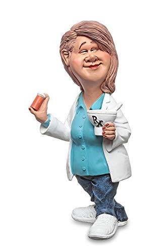 Les Alpes Figura de la profesión Farmacéutico, 17 cm - Estatua Pintada a Mano con Mucho cariño sobre Resina, Muchos Detalles - Figurilla Colección de estatuas Funny World Professions Salud Hospital