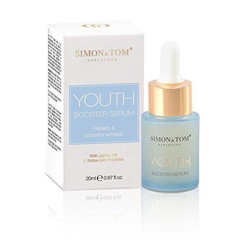 Simon & Tom - YOUTH -Booster Serum - met Jojoba-olie & Botox-achtige peptiden, verjongend gezichtsserum, maakt rimpels glad en verbetert de elasticiteit en stevigheid, 20 ml.