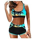 Dividido de bañadores Mujer Natación 2021 Conjuntos de Bikinis Push up Tiro Alto Boho brasileños Traje de baño para Mujer Verano Prenda para la Playa Mujer Ropa de Baño Bikinis calzedonia 2021