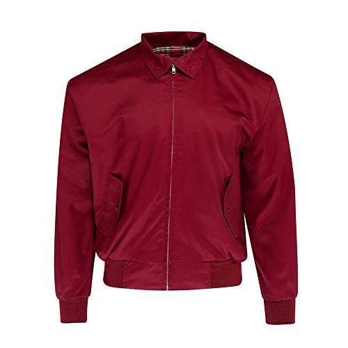 Relco Mens Harrington Jacket Burgundy XL
