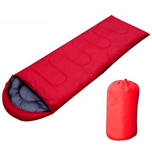 Generic Sac de Couchage enveloppe étanche Sac de Couchage Super Léger, Idéal pour Le Camping, la Randonnée et Activités de Plein air, Red