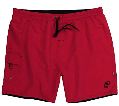 ADAMO Herren Badeshort Badehose Beachshort Hose in Übergröße rot 2XL-12XL Kuba (62/64-4XL, Rot)
