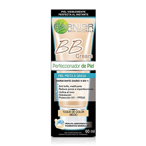 Garnier Skin Naturals Face Bb Cream Oily, Medium, 60 Ml