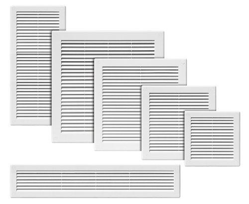 Rejilla de ventilación 200 x 200. Blanco plástico de alta calidad (tru-5)