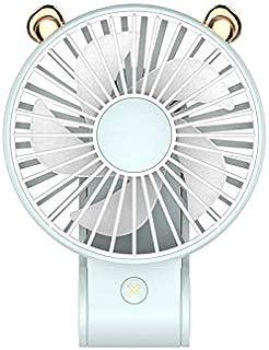 SHANGRUIYUAN-Mini Fan Multifunction Mini USB Fan, Outdoor Handheld Folding, Creative Charging Hanging Neck Small Fan (Color : Blue)