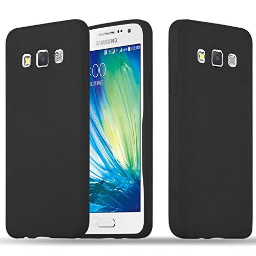 Cadorabo Hülle für Samsung Galaxy A3 2015 in Candy SCHWARZ - Handyhülle aus flexiblem TPU Silikon - Silikonhülle Schutzhülle Ultra Slim Soft Back Cover Hülle Bumper