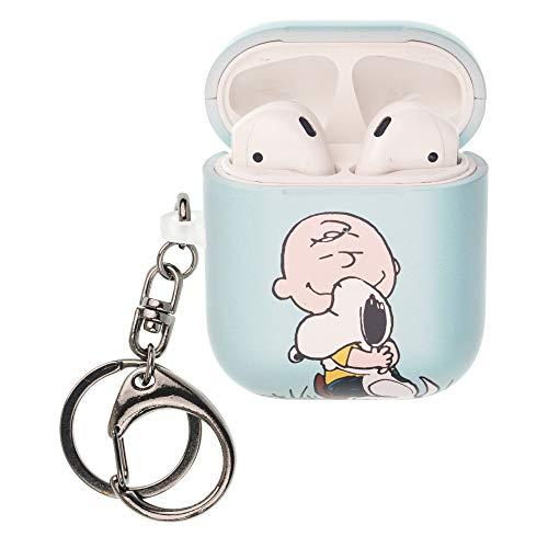 Peanuts Charlie Brown ピーナッツ チャーリー ブラウン AirPods と互換性があります ケース キーホルダー エアーポッズ用ケース 硬い スリム ハード カバー (面 チャーリー ブラウン スヌーピー) [並行輸入品]