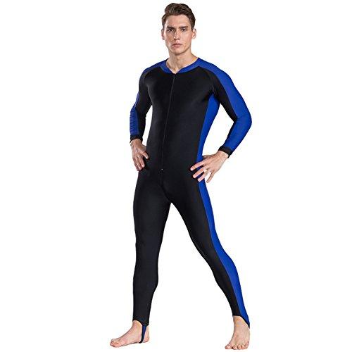 Fortuning's JDS® Ein Stück Langarm Badeanzüge Ganzkörper Schwimmen Kostüm Surfen Anzug, Männer