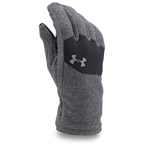 Under Armour Men's ColdGear Infrared Fleece Gloves, Black (001)/Steel, Medium