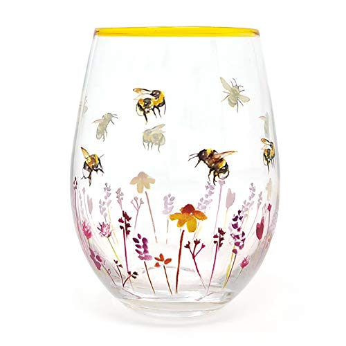 Busy Bees - Vaso de cristal para cócteles, diseño de ginebra