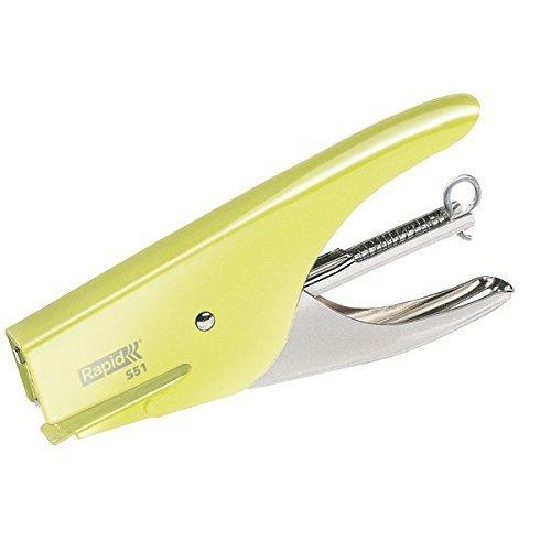Rapid Cucitrice a pinza Retro S51, Adatta a punti 21/4 mm, Capacità 15 fogli, Metallo, Mellow Yellow, 5000510