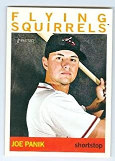 Joe Panik baseball card (San Francisco Giants Flying Squirrels 2015 All Star) 2013 Topps Minors Heritage #80 Rookie Card