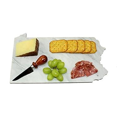 Pennsylvania Carrara White Marble Cheese Board