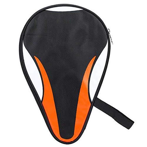 Eatbuy Bolsa para murciélagos-Raquetas de Tenis de Mesa Bolsa para murciélagos Funda Oxford Impermeable A Prueba de Polvo Protección Completa(Naranja)
