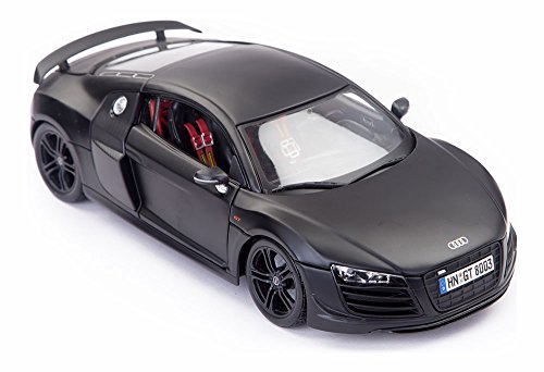 Maisto Audi R8 GT Matte Black 1:18 Scale Car Special Edition