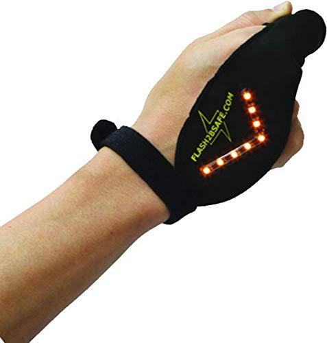 Flash2bsafe LED Handblinker, passend für alle Hände, der Blinker für Radfahrer, Erwachsene und Kinder, Sicherheit, Fahrrad,Bike,
