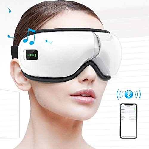 HOMIEE Eye Massager, Portable Electric Bluetooth Eye Machine with Heat, Air Pressure, Vibration,...